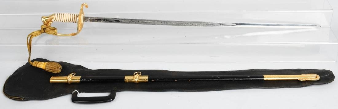 UNITED STATES NAVY SWORD - ETCHED BLADE & IDED