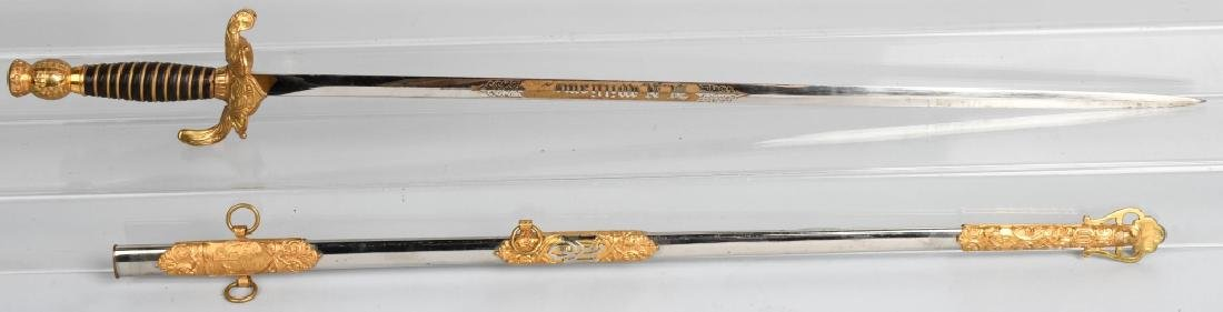 IOOF SWORD WITH ETCHED BLADE IDED