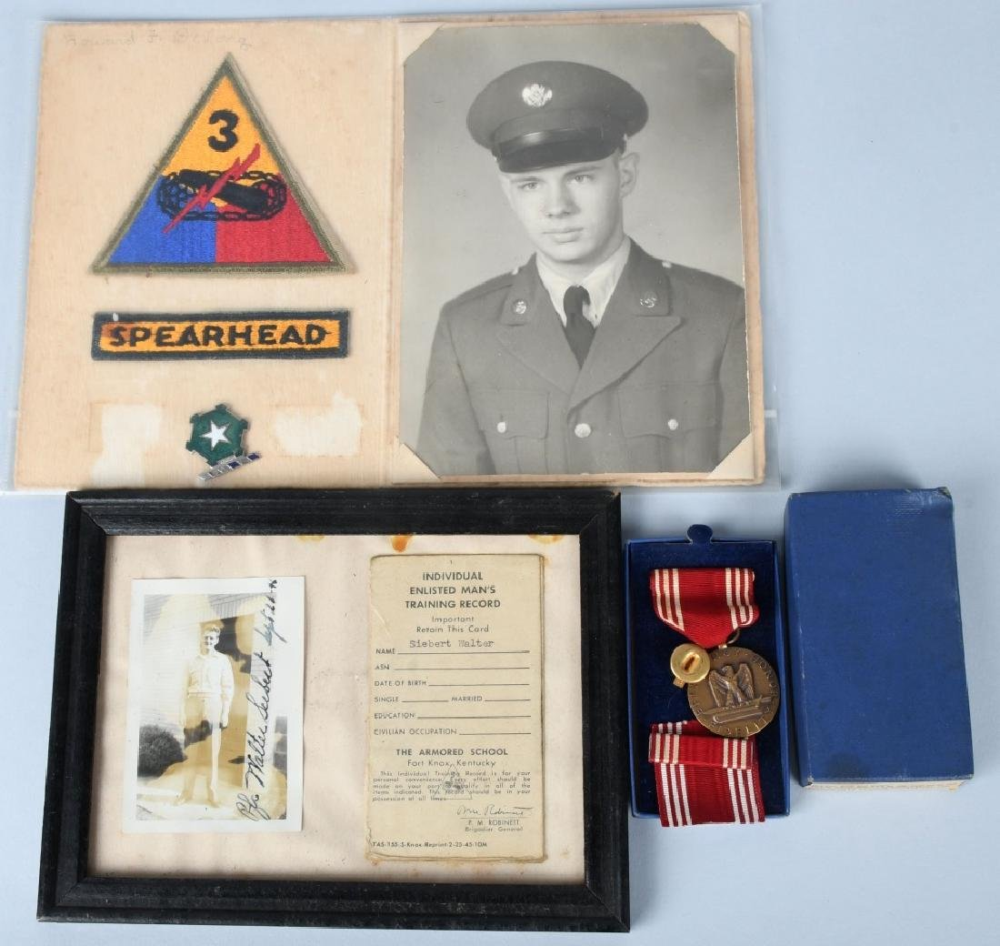 WWII UNITED STATES MEDAL & PHOTOGRAPH LOT