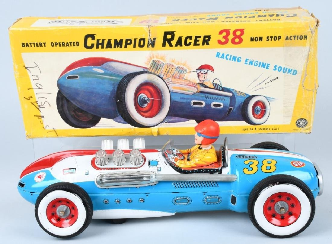 JAPAN Battery Op CHAMPION RACER #38 w/ BOX