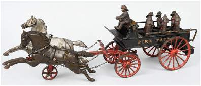 EARLY IVES CAST IRON HORSE DRAWN FIRE PATROL