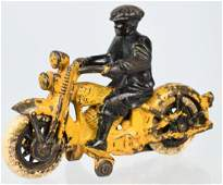 HUBLEY 1930's CAST IRON HARLEY MOTORCYCLE