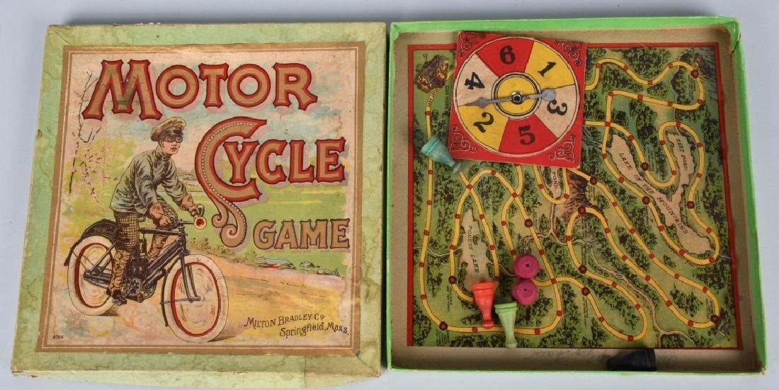 PRE 1910 MOTORCYCLE GAME, MILTON BRADLEY