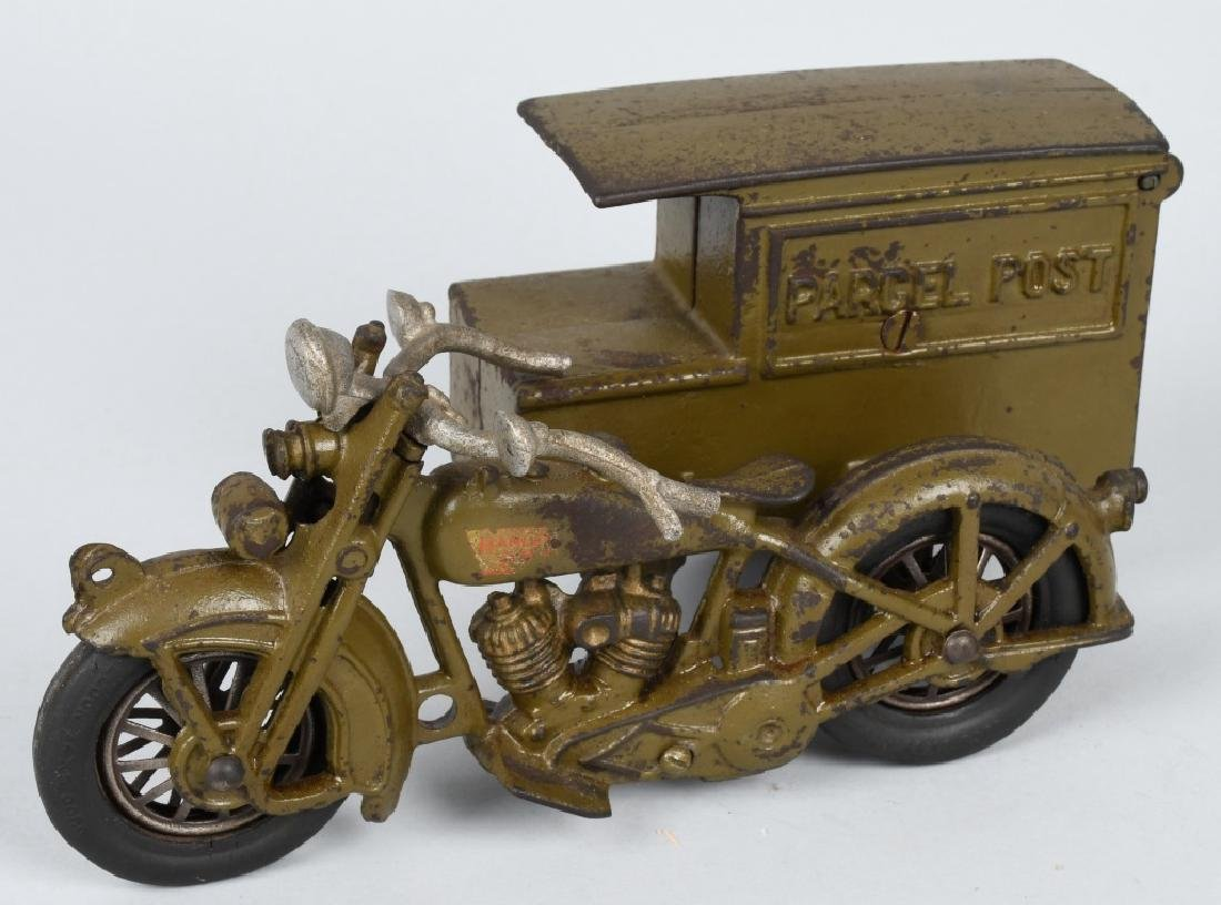 HUBLEY Cast Iron PARCEL POST MOTORCYCLE
