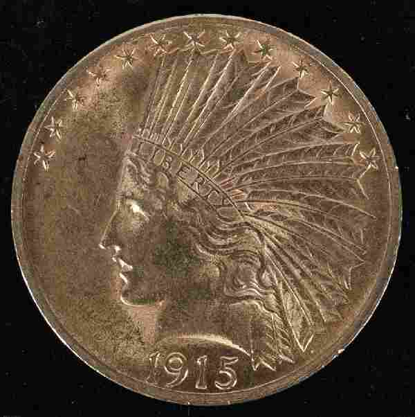 1915 $10 US INDIAN HEAD GOLD COIN