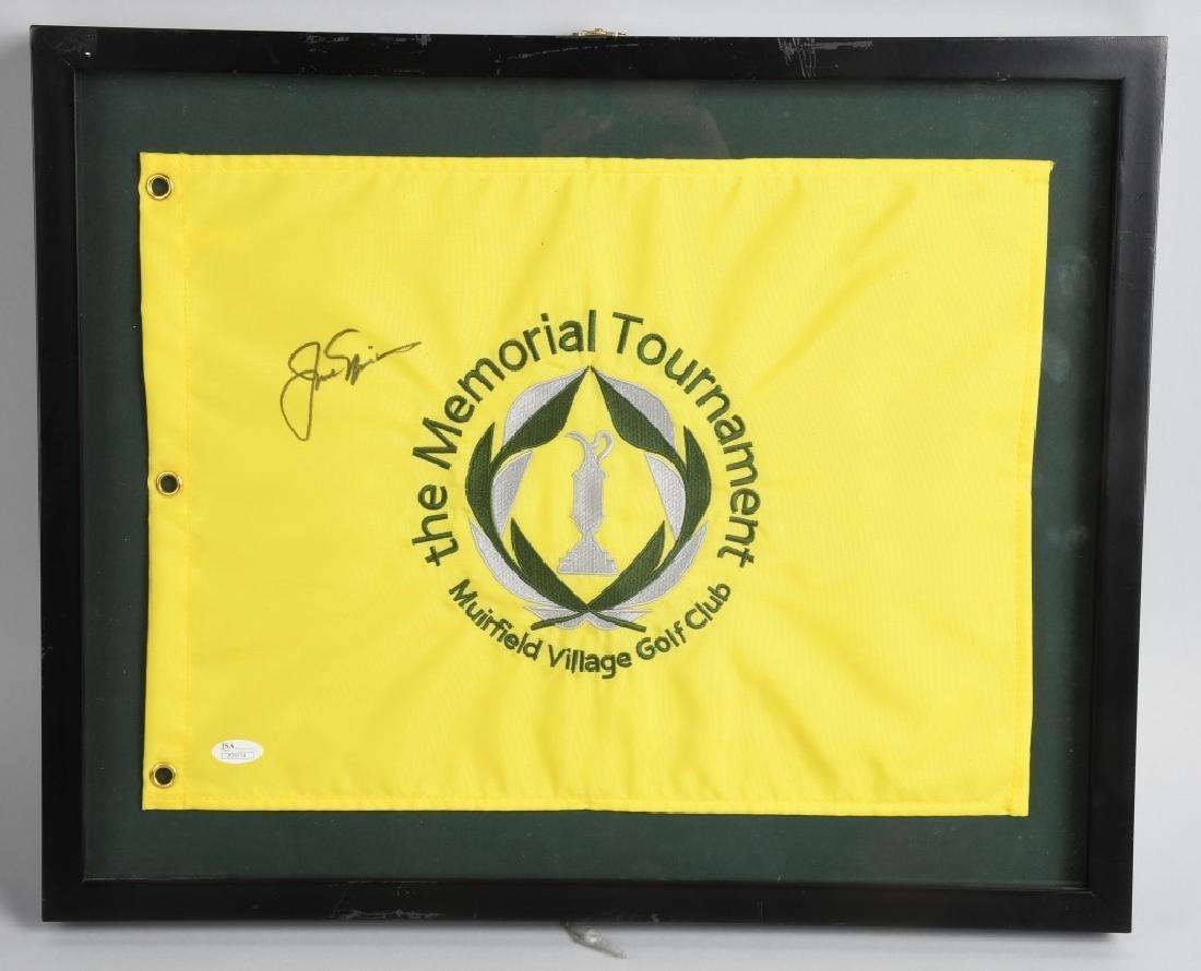 JACK NICKLAUS SIGNED TOURNAMENT FLAG. JSA