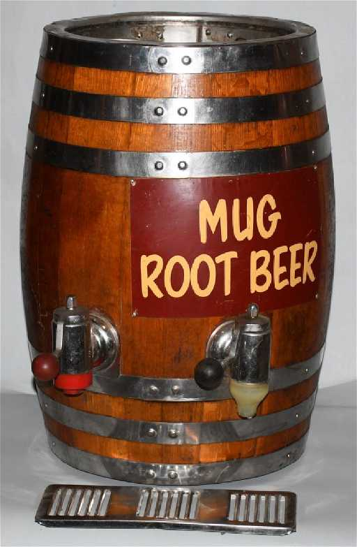VINTAGE MUG ROOT BEER BARREL DISPENSER