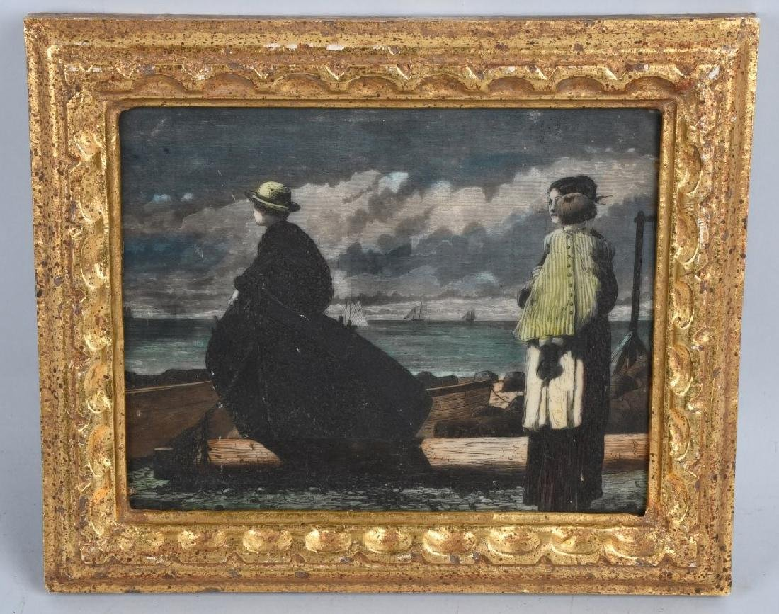 """DADS COMING """"W. HOMER"""" ETCHING"""