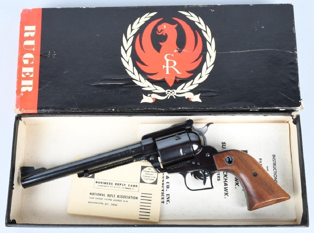 RUGER SUPER BLACKHAWK .44 MAG. REVOLVER, BOXED