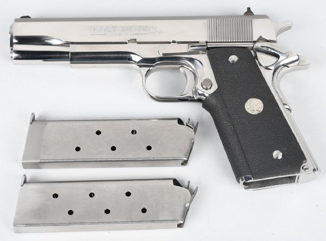 COLT 1911 MK IV SERIES 80, .45 NICKEL PISTOL