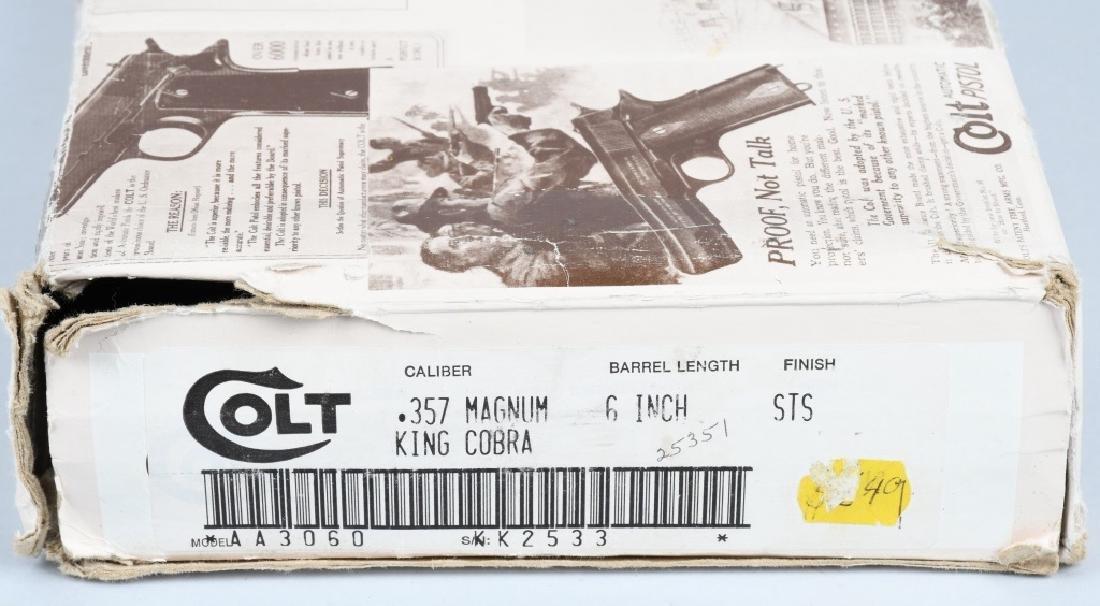COLT KING COBRA . 357 MAG. CUSTOM ENGRAVED, BOXED - 7