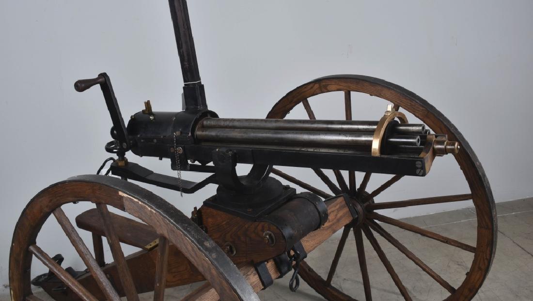 1/1 MODEL 1862 FULL SIZE OPERATING .50 GATLING GUN - 10