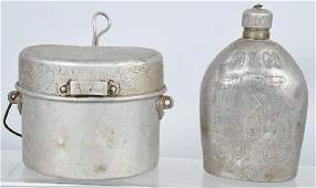 WWI 332ND TRENCH ART CANTEEN  ITALIAN MESS KIT