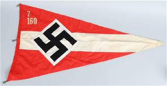WWII NAZI GERMAN HITLER YOUTH PENNANT - FLAG