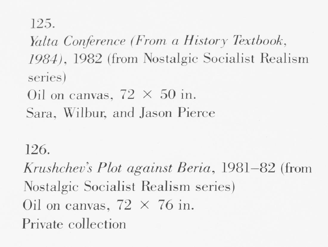 KOMAR & MELAMID YALTA CONFERENCE PAINTING 1982 - 10