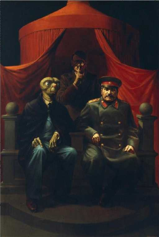 Komar Melamid Yalta Conference Painting 1982