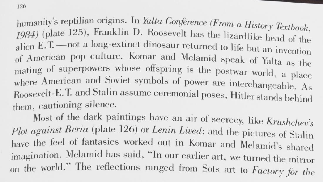 KOMAR & MELAMID YALTA CONFERENCE PAINTING 1982 - 9