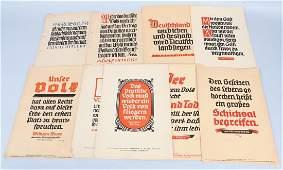 WWII GERMAN NAZI PROPAGANDA POSTERS (9)