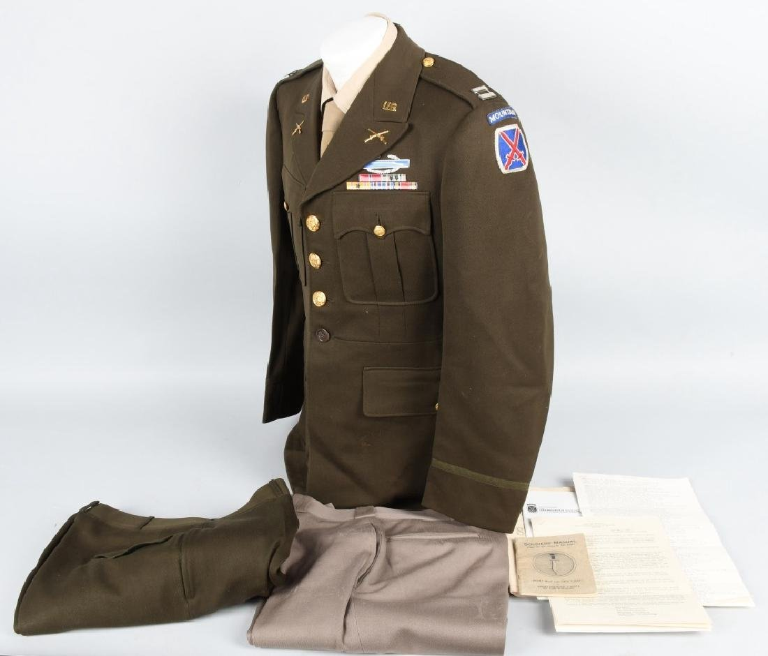 WWII U.S. ARMY 10TH MOUNTAIN DIVISION UNIFORM. ETC