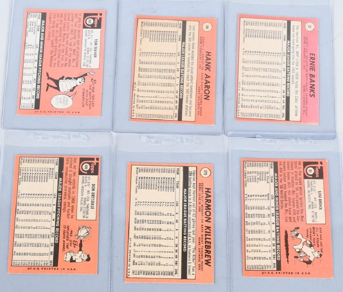 6- 69 TOPPS BASEBALL CARDS AARON, SEAVER, & MORE - 5