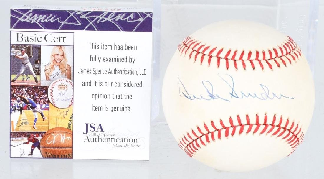 DUKE SNIDER AUTOGRAPHED MAJOR LEAGUE BASEBALL JSA