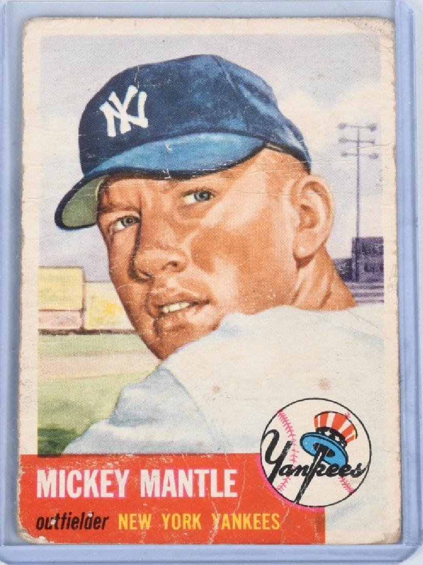1953 MICKEY MANTLE TOPPS BASEBALL CARD