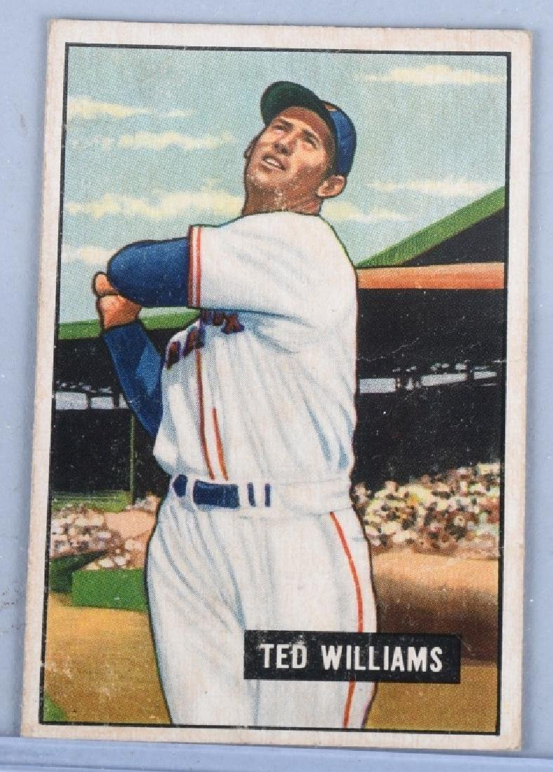 TED WILLIAMS 1951 BOWMAN BASEBALL CARD