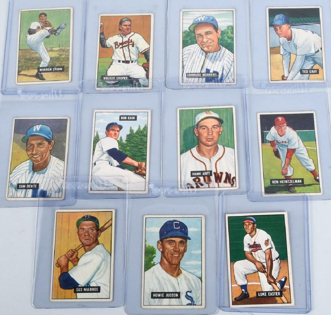 1951 BOWMAN BASEBALL CARD LOT WARREN SPAHN & MORE