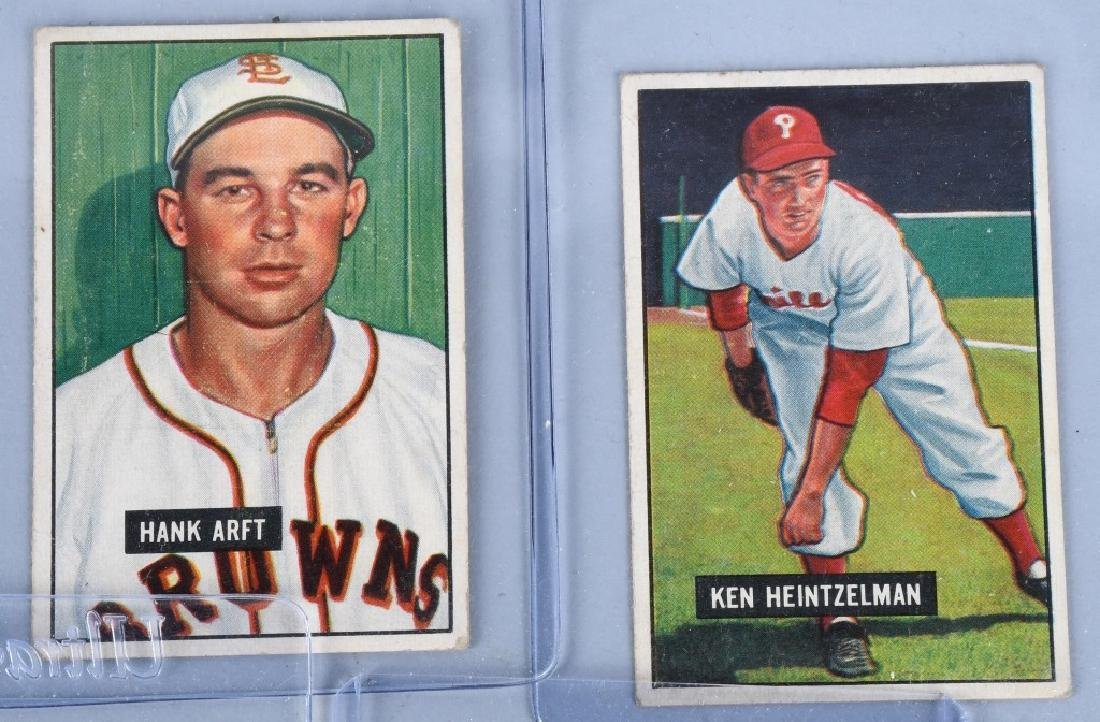 1951 BOWMAN BASEBALL CARD LOT WARREN SPAHN & MORE - 4