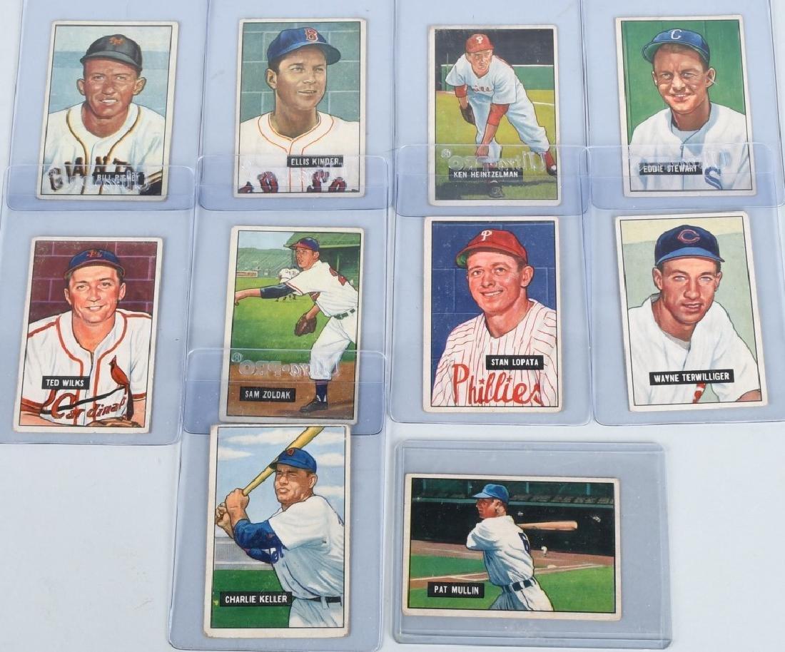 1951 BOWMAN 10 CARD LOT