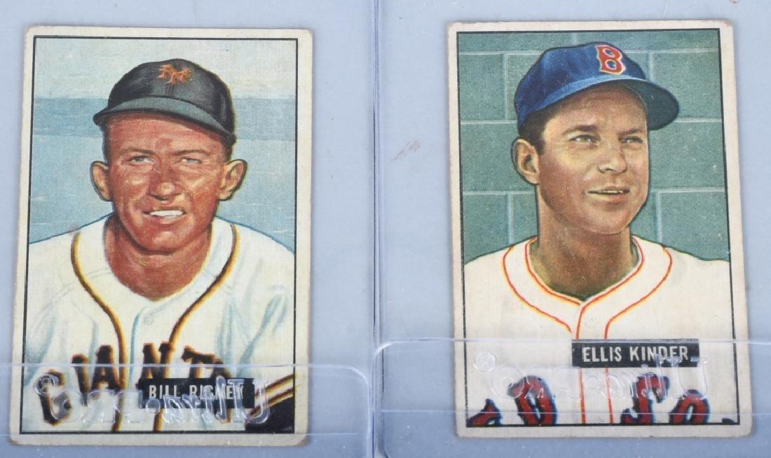 1951 BOWMAN 10 CARD LOT - 2