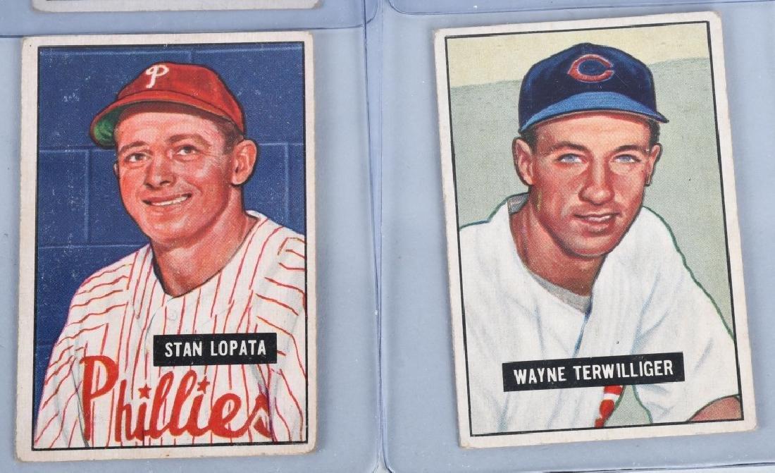 1951 BOWMAN 10 CARD LOT - 4