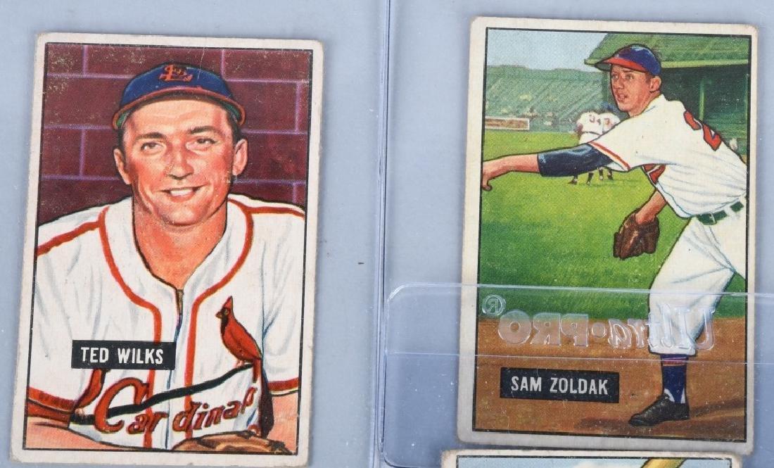 1951 BOWMAN 10 CARD LOT - 5