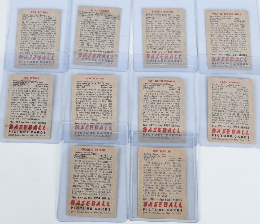1951 BOWMAN 10 CARD LOT - 7