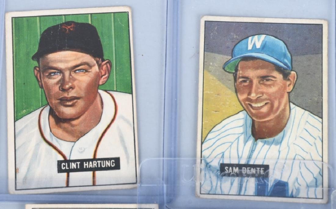 1951 BOWMAN 13 BASEBALL CARD LOT - 2