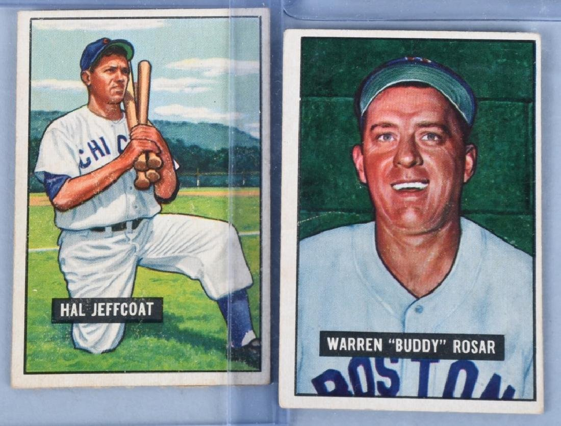1951 BOWMAN 13 BASEBALL CARD LOT - 4