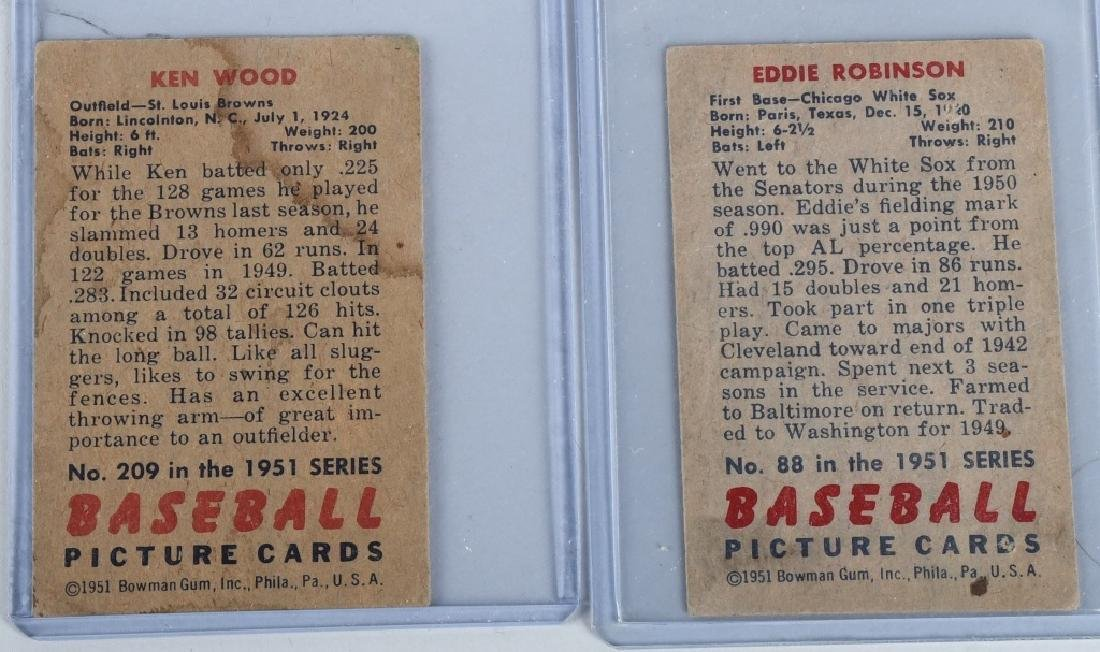 1951 BOWMAN 13 BASEBALL CARD LOT - 7