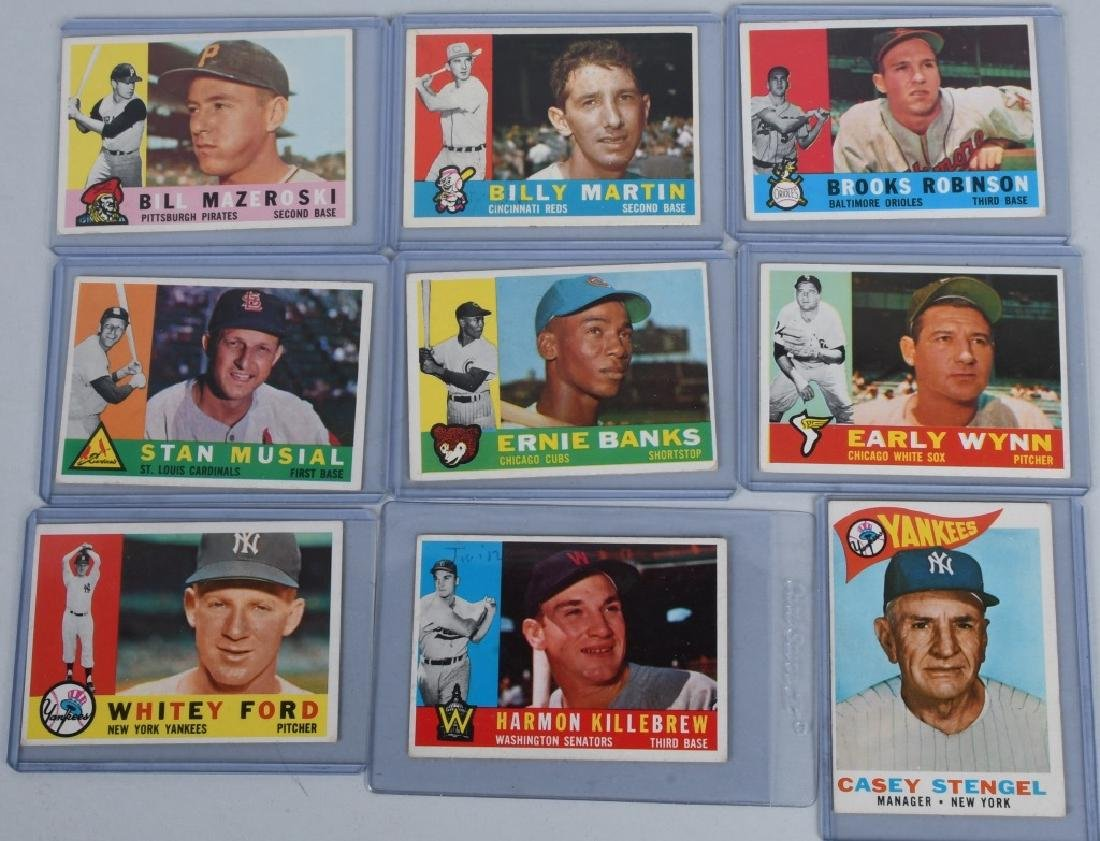 1960 ALL STAR BASEBALL CARD LOT