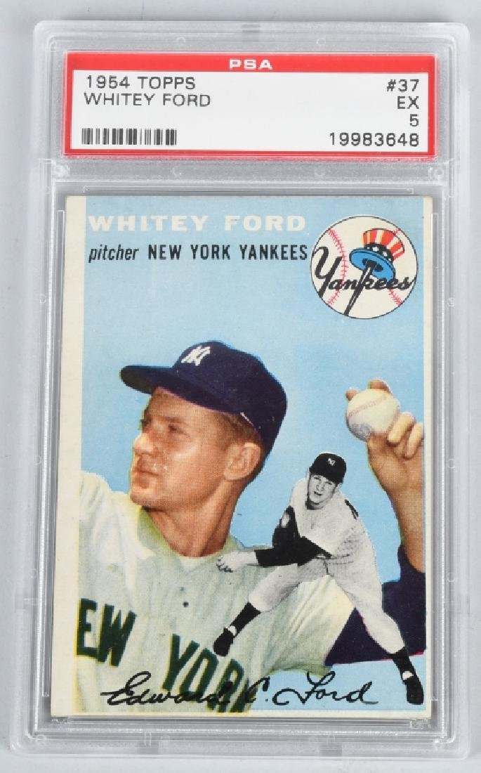 1954 WHITEY FORD TOPPS BASEBALL CARD PSA GRADED