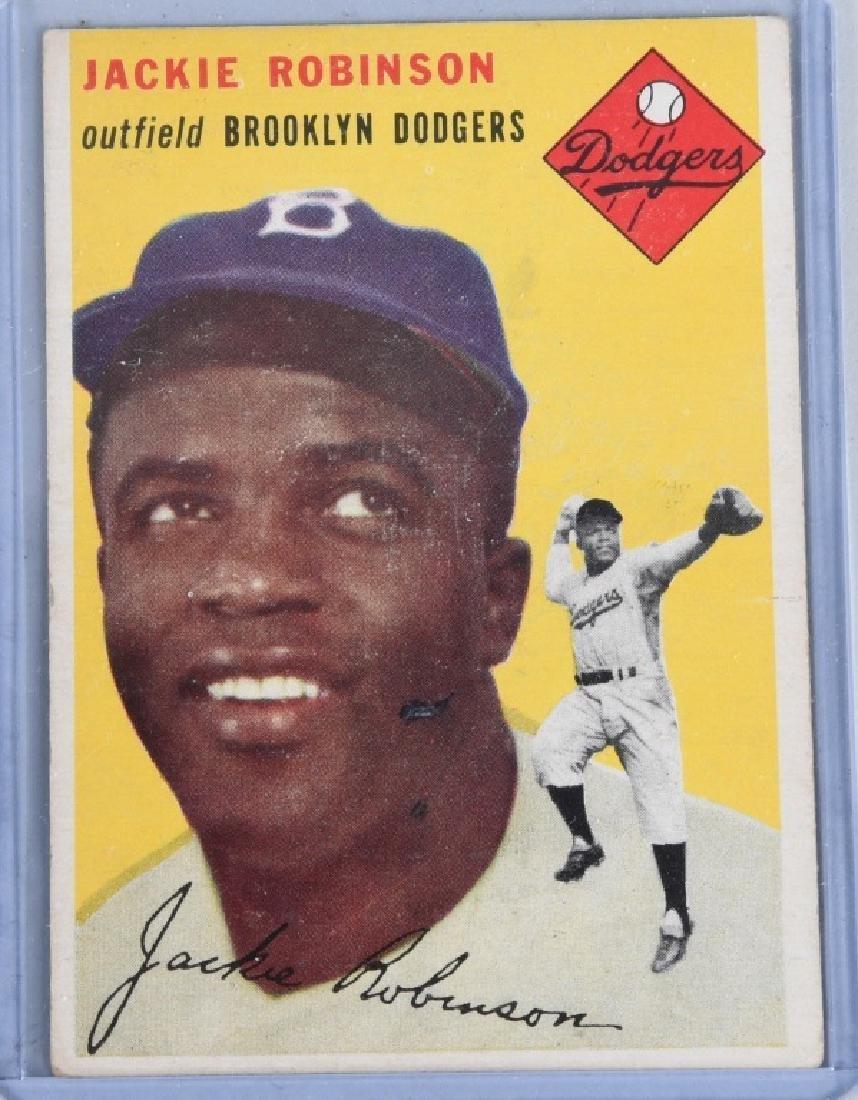 1954 JACKIE ROBINSON & LARRY DOBY BASEBALL CARDS - 2