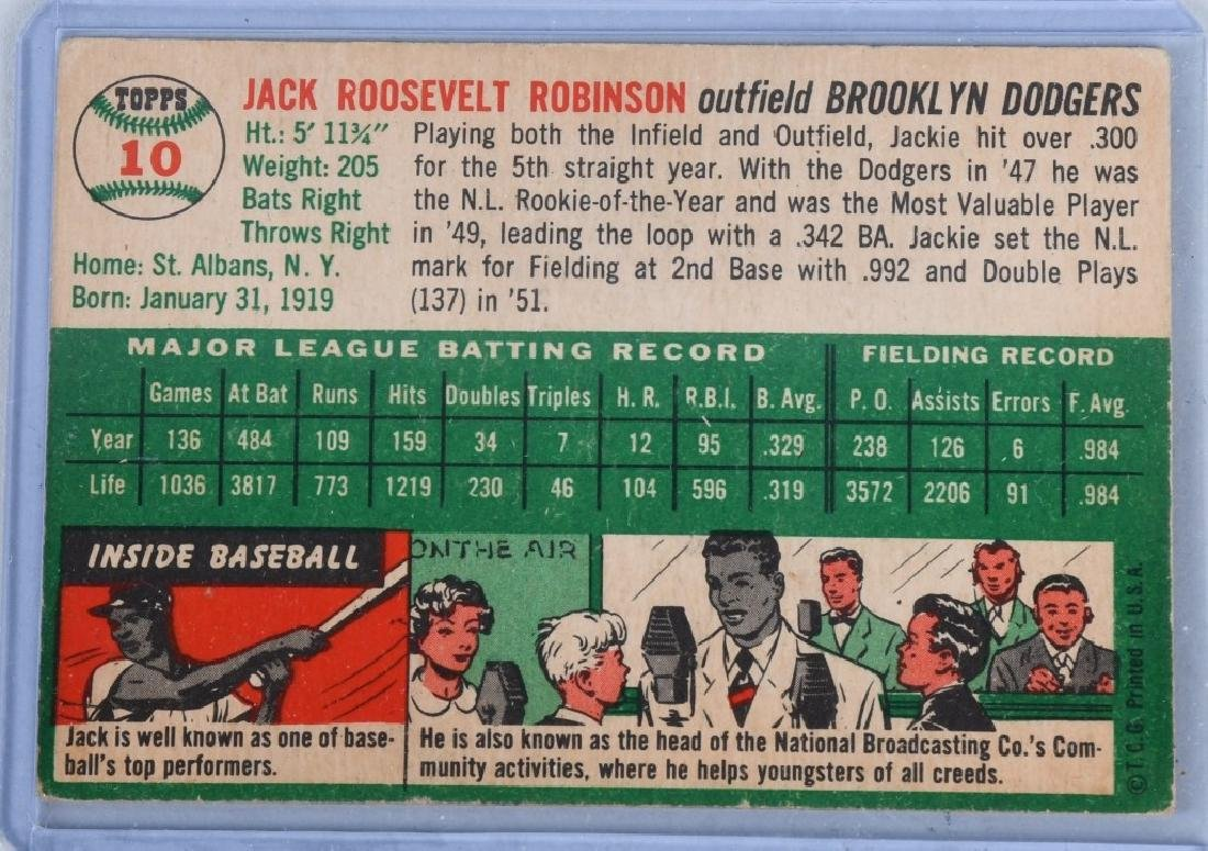 1954 JACKIE ROBINSON & LARRY DOBY BASEBALL CARDS - 3