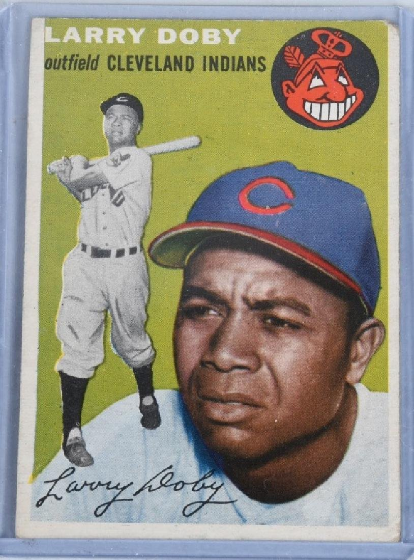 1954 JACKIE ROBINSON & LARRY DOBY BASEBALL CARDS - 4