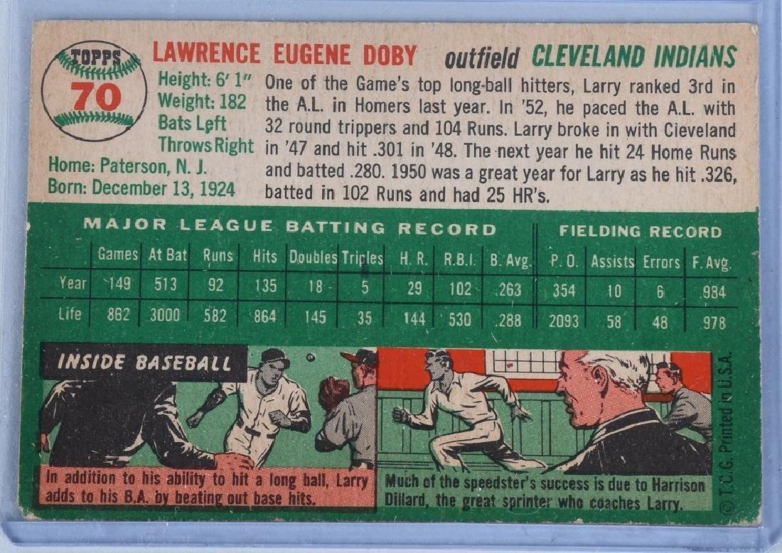 1954 JACKIE ROBINSON & LARRY DOBY BASEBALL CARDS - 5