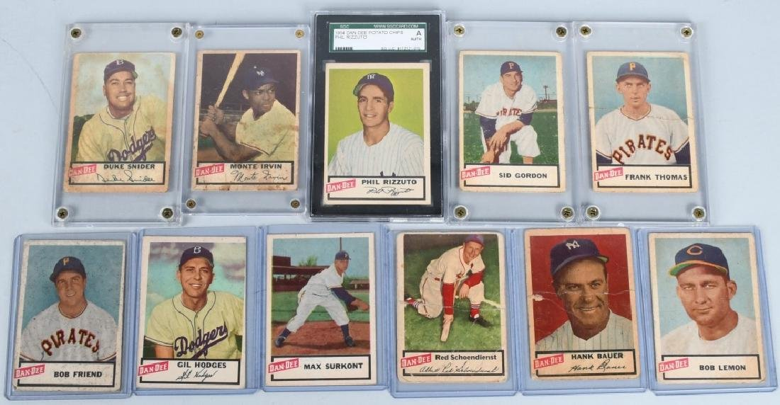 DAN-DEE POTATO CHIP BASEBALL 11 CARD LOT