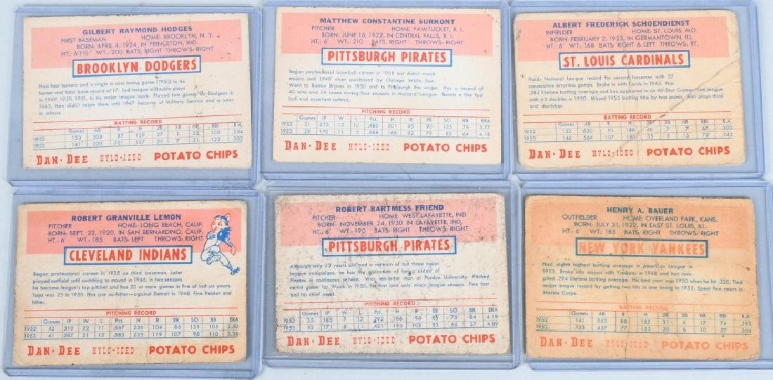 DAN-DEE POTATO CHIP BASEBALL 11 CARD LOT - 6