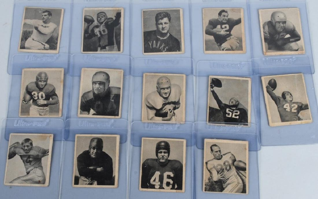 1948 BOWMAN FOOTBALL 14 CARD LOT