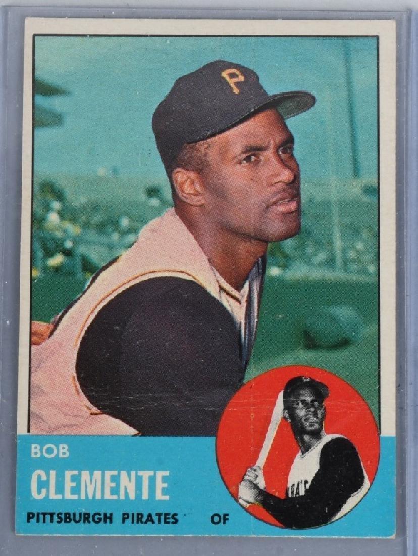 1963 ROBERTO CLEMENTE TOPPS BASEBALL CARD