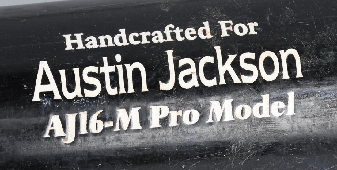 AUSTIN JACKSON CLEVELAND INDIANS GAME USED BAT - 2