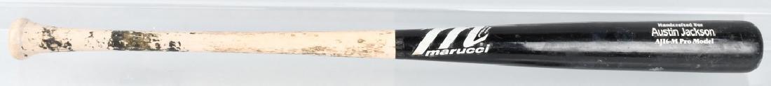 AUSTIN JACKSON CLEVELAND INDIANS GAME USED BAT - 4