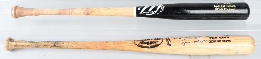 ASTRUBAL CABRERRA & RYAN GARKO GAME USED BATS - 6